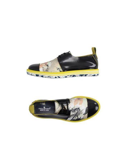 Ciro Lendini | Мужская Чёрная Обувь На Шнурках
