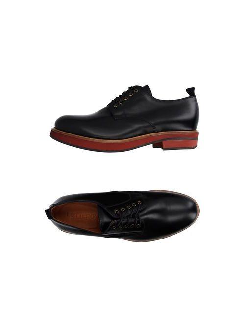 Buttero | Мужская Чёрная Обувь На Шнурках