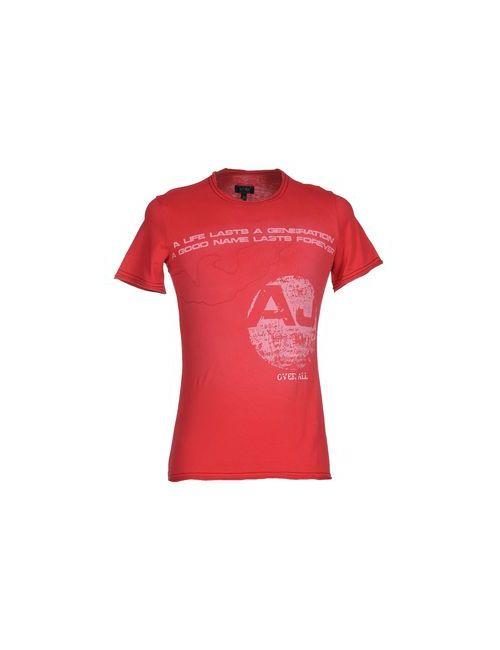 ARMANI JEANS | Женская Красная Футболка