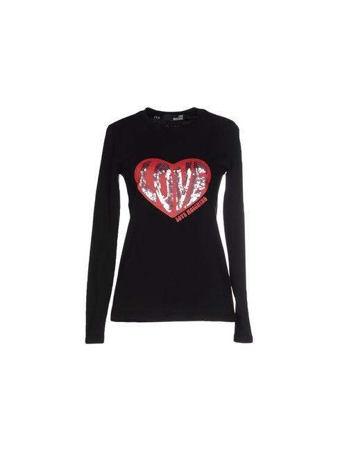 Love Moschino | Женская Чёрная Футболка