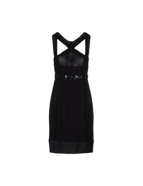 Roberto Cavalli | Женское Чёрное Короткое Платье