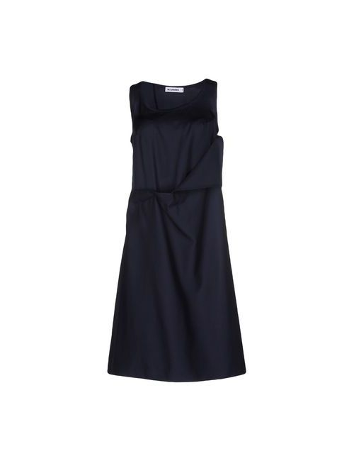 Jil Sander | Женское Синее Платье До Колена