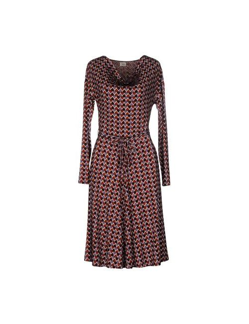 Siyu | Женское Коричневое Платье До Колена