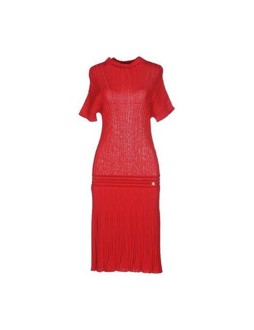 Roberto Cavalli | Женское Красное Платье До Колена