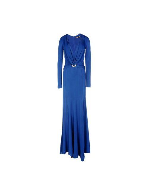 Roberto Cavalli | Женское Синее Длинное Платье