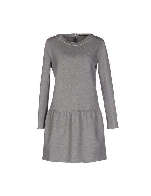 Sisley | Женское Серое Короткое Платье