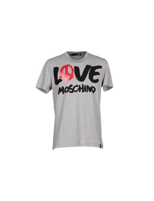 Love Moschino   Мужская Серая Футболка