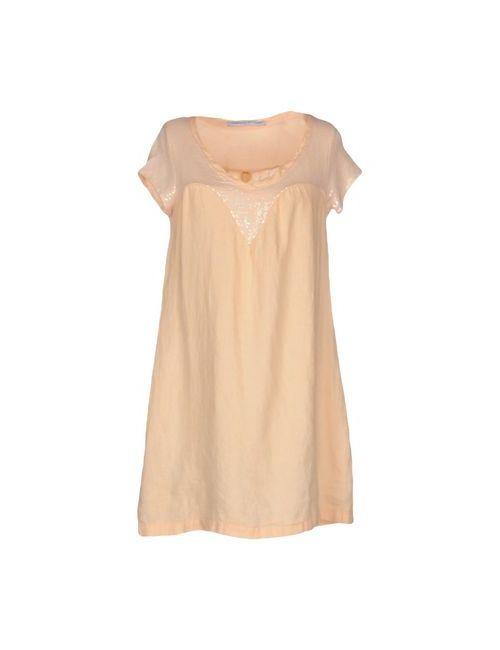 La Fabbrica Del Lino | Женское Розовое Короткое Платье