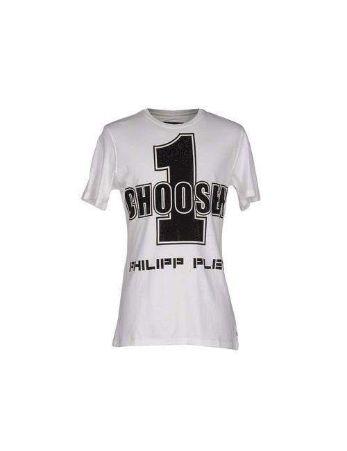 Philipp Plein Homme   Мужская Белая Футболка