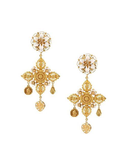 Dolce & Gabbana | Женские Золотистые Серьги