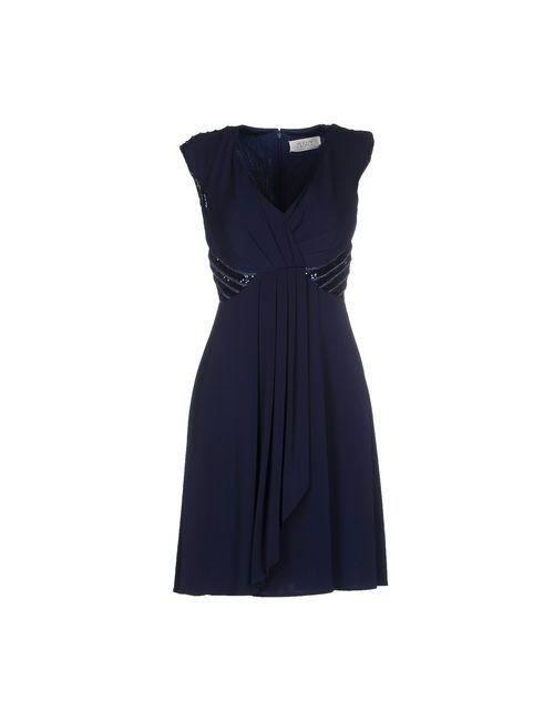 Musani Couture | Женское Синее Платье До Колена
