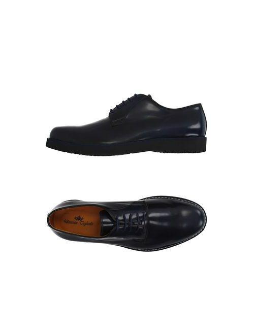 Domenico Tagliente | Мужская Синяя Обувь На Шнурках