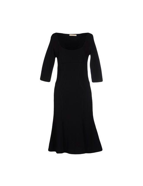 Mixmix | Женское Чёрное Платье До Колена