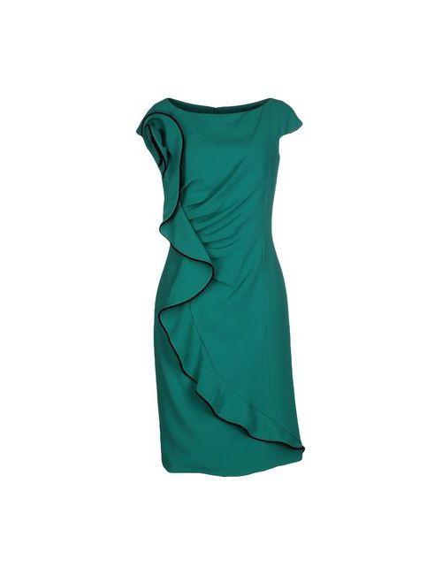 FLAVIO FUCCI | Женское Зелёное Платье До Колена