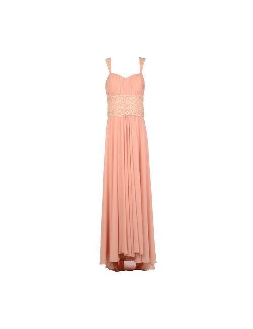 Musani Couture | Женское Розовое Длинное Платье