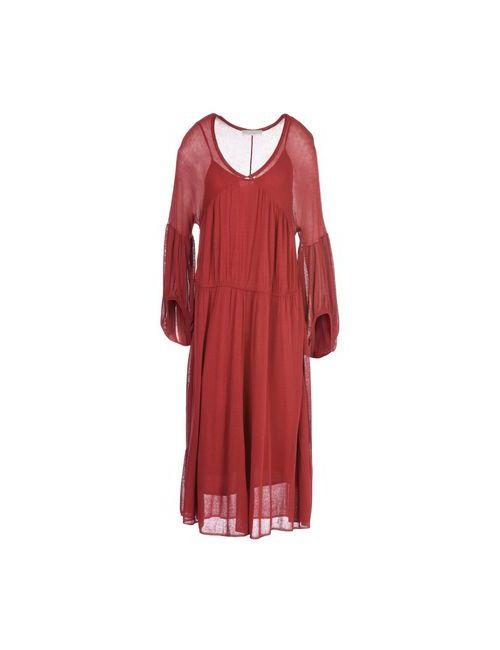 Stefanel | Женское Красное Платье До Колена
