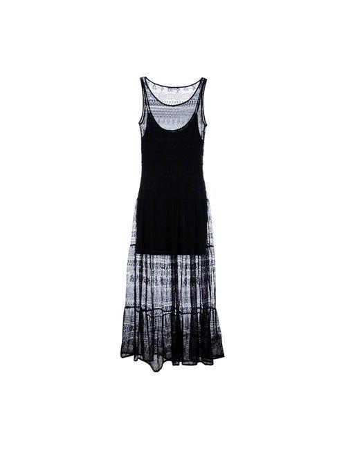 Guess | Женское Чёрное Длинное Платье