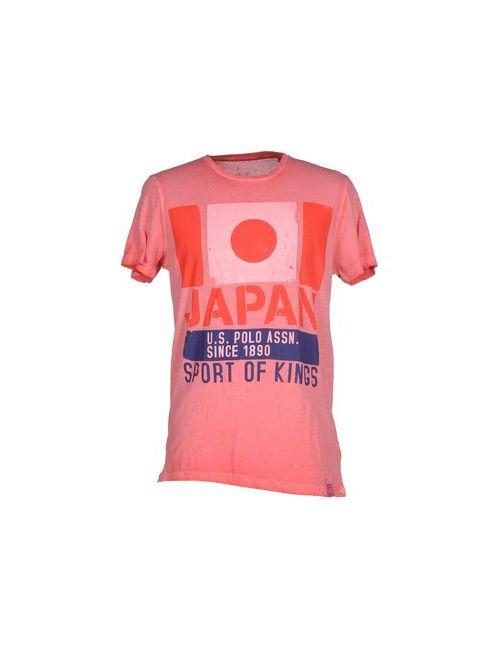 U.S. Polo Assn. | Мужская Розовая Футболка