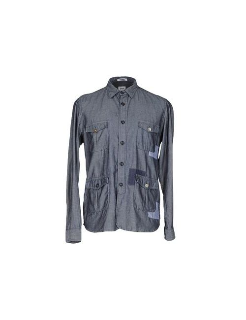 Officina 36 | Мужская Синяя Pубашка
