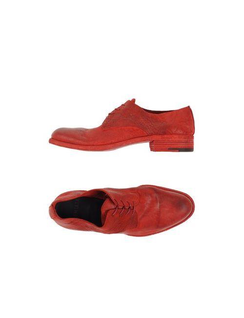 Premiata | Мужская Красная Обувь На Шнурках