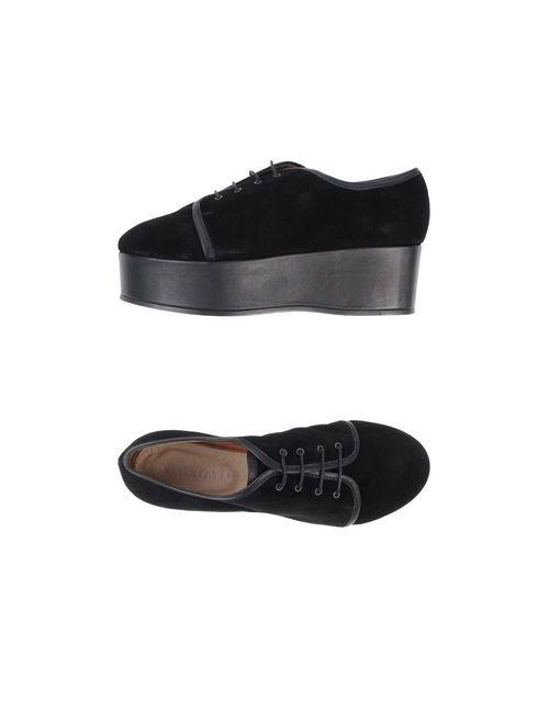 Minimarket | Женская Чёрная Обувь На Шнурках