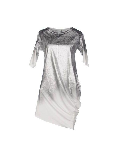 Masnada | Женское Серебристое Платье До Колена