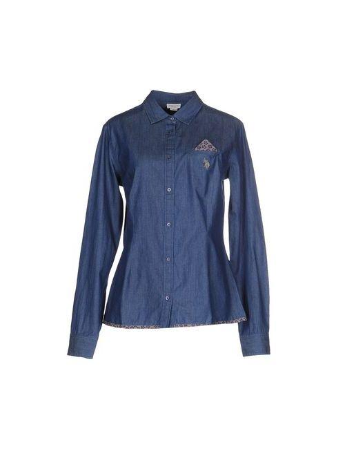 U.S. Polo Assn.   Мужская Синяя Джинсовая Рубашка