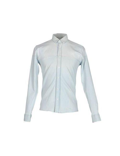 GHEDINI ZUCCARINI CONTINI | Мужская Синяя Джинсовая Рубашка