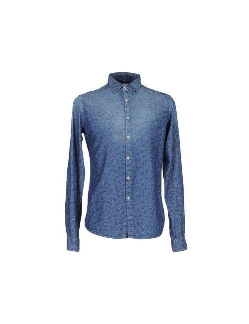 Riciclo | Мужская Синяя Джинсовая Рубашка