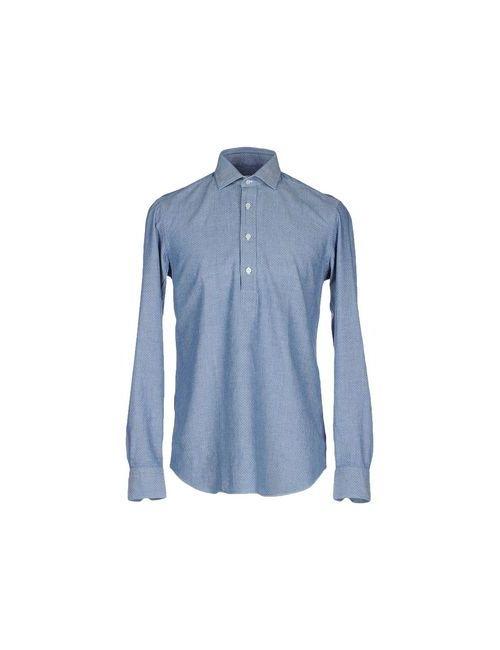SALVATORE PICCOLO | Мужская Синяя Джинсовая Рубашка