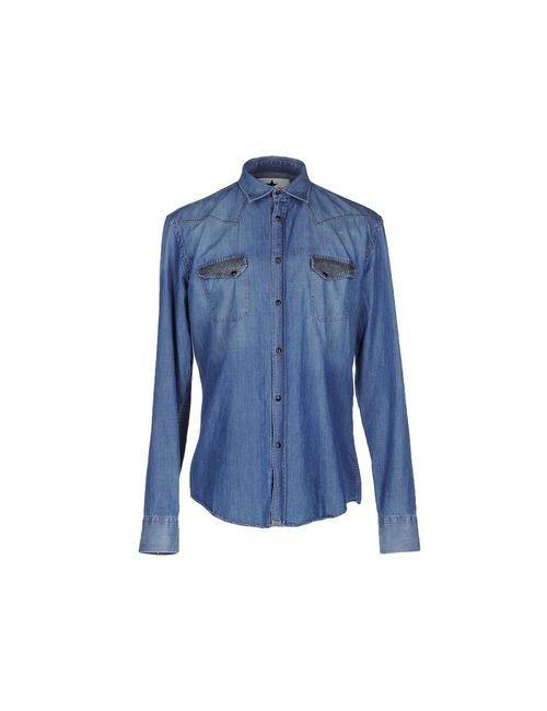 Macchia J | Мужская Синяя Джинсовая Рубашка