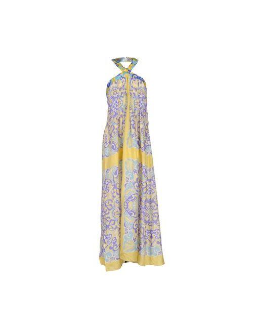 Blumarine | Женское Фиолетовое Длинное Платье
