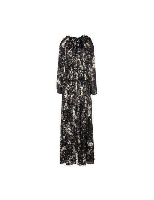 Lanvin | Женское Чёрное Длинное Платье