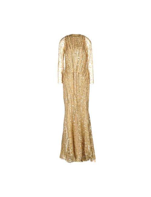 Zuhair Murad | Женское Золотистое Длинное Платье