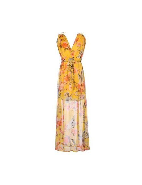 Traffic People | Женское Жёлтое Длинное Платье