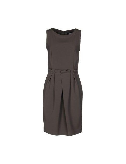 Gossip | Женское Серое Платье До Колена