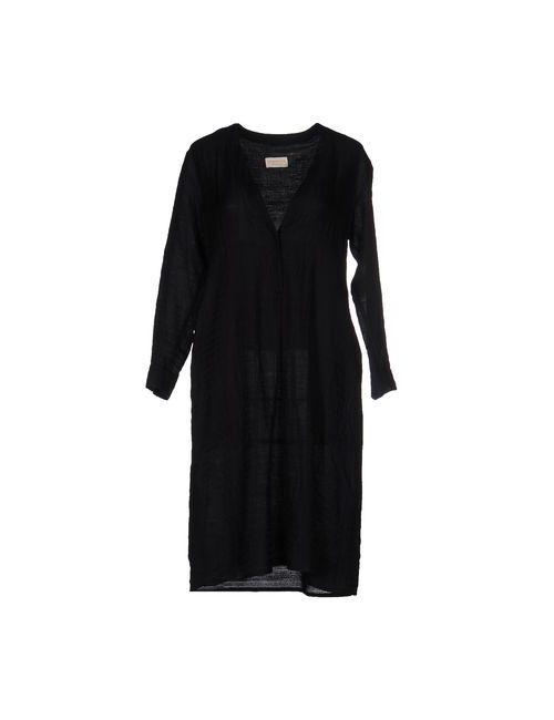 Momoní   Женское Чёрное Платье До Колена