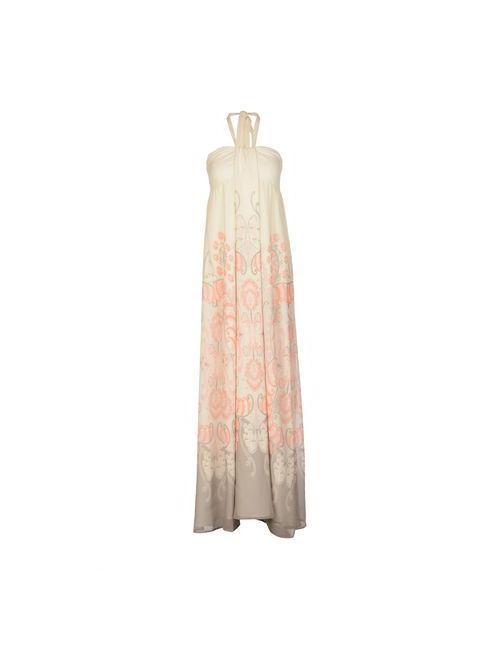 Atelier Fixdesign | Женское Слоновая Костящее Длинное Платье