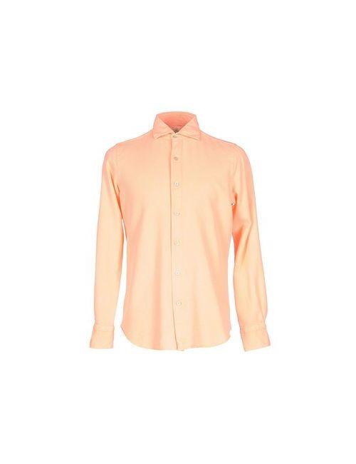 Finamore 1925   Мужская Розовая Pубашка