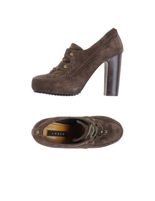 Logan   Мужская Коричневая Обувь На Шнурках