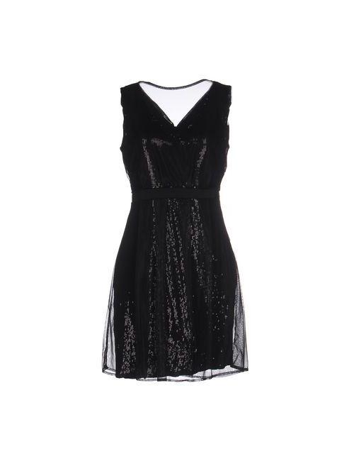 Angela Davis | Женское Чёрное Короткое Платье