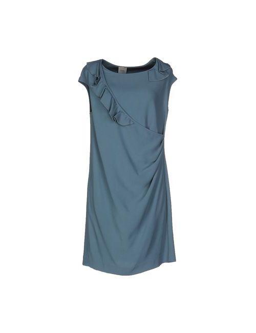 ...À_La_Fois... | Женское Синее Короткое Платье