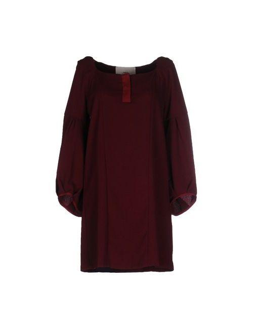 ..,Merci | Женское Баклажанное Короткое Платье