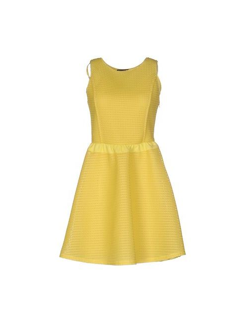Cristinaeffe | Женское Жёлтое Короткое Платье