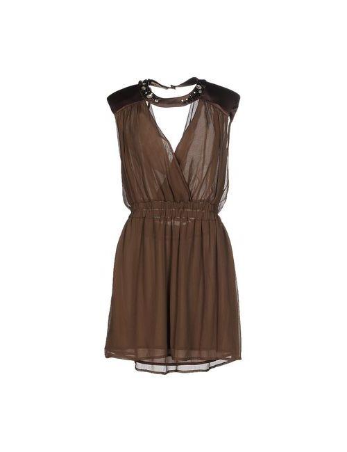 MET & FRIENDS | Женское Коричневое Короткое Платье