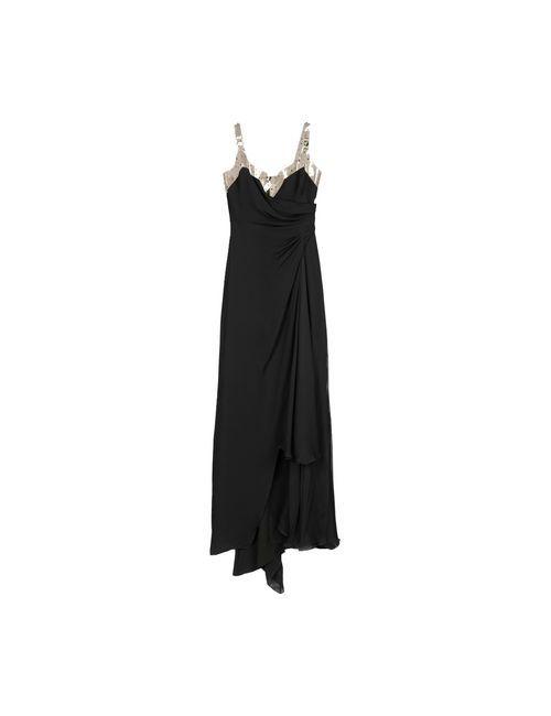 Versace Collection | Женское Чёрное Длинное Платье