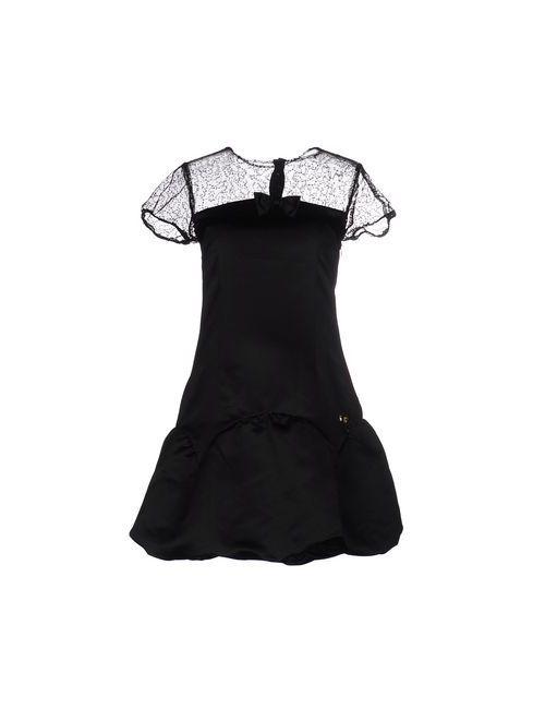 Maison Espin | Женское Чёрное Короткое Платье