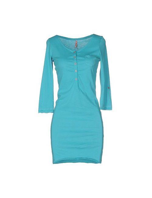 MET | Женское Голубое Короткое Платье