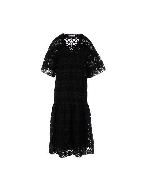 WEILI ZHENG | Женское Чёрное Платье Длиной 3/4