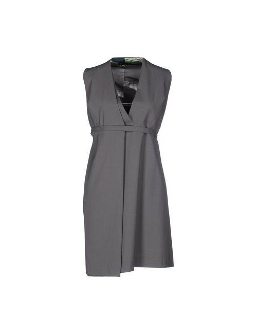 D_Cln | Женское Серое Короткое Платье